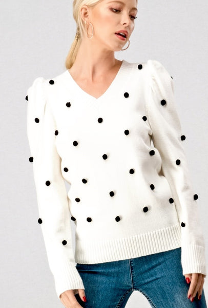 Payton Sweater in Ivory