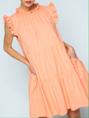 Janie Dress in Cantaloupe