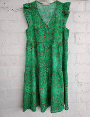 Jessie Dress in Green Floral