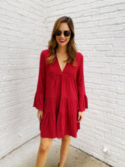 Morgan Dress in Burgundy