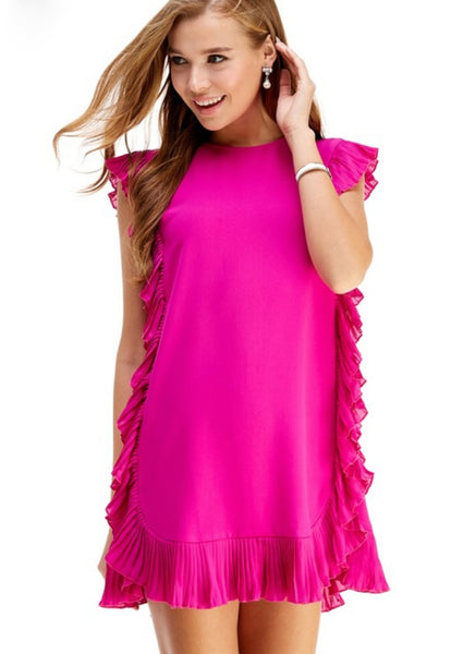 Coco Dress in Hot Pink
