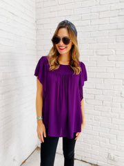 Frances Top in Purple