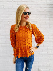 Laura Top in Orange