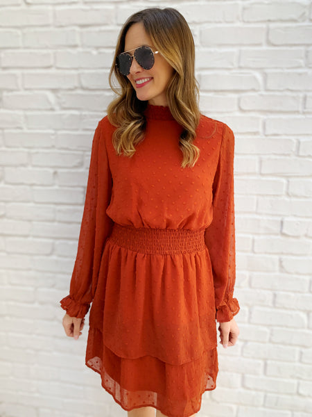 Callye Dress in Rust