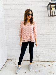 Laura Top in Blush