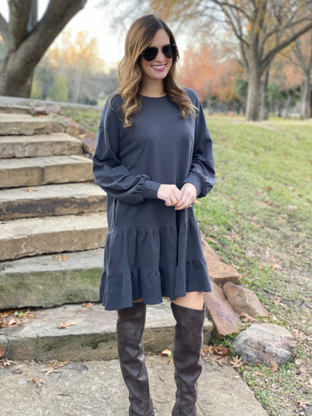 Mason Dress in Charcoal