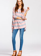 Whitley Top in Pink Stripe