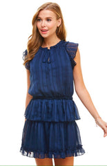 Chrissy Dress in Navy