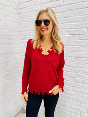 Tierney Sweater in Red