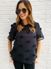Dottie Top in Black