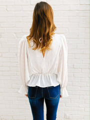 Reese Top in Ivory