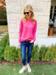 Livvy Sweater in Hot Pink