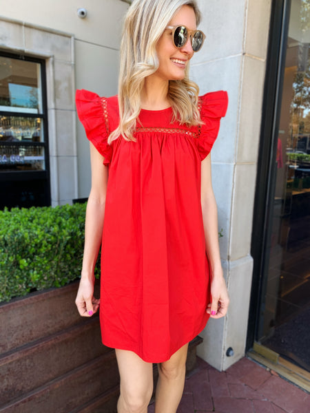 Claire Dress in Red (Ships Next Week)