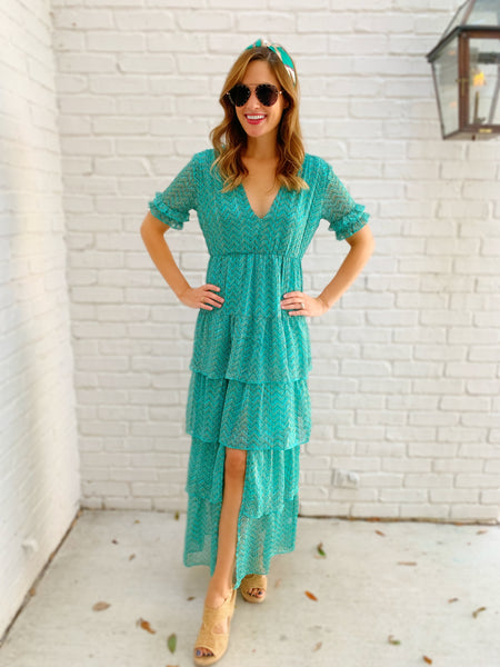 Lily Dress in Jade