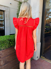 Claire Dress in Red