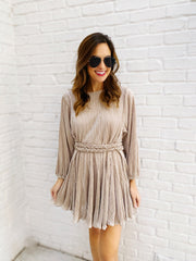 Zoey Dress in Champagne