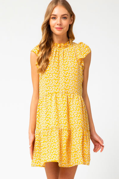Baker Dress in Yellow (Ships Next Week)