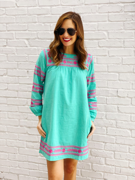Katie Dress in Teal