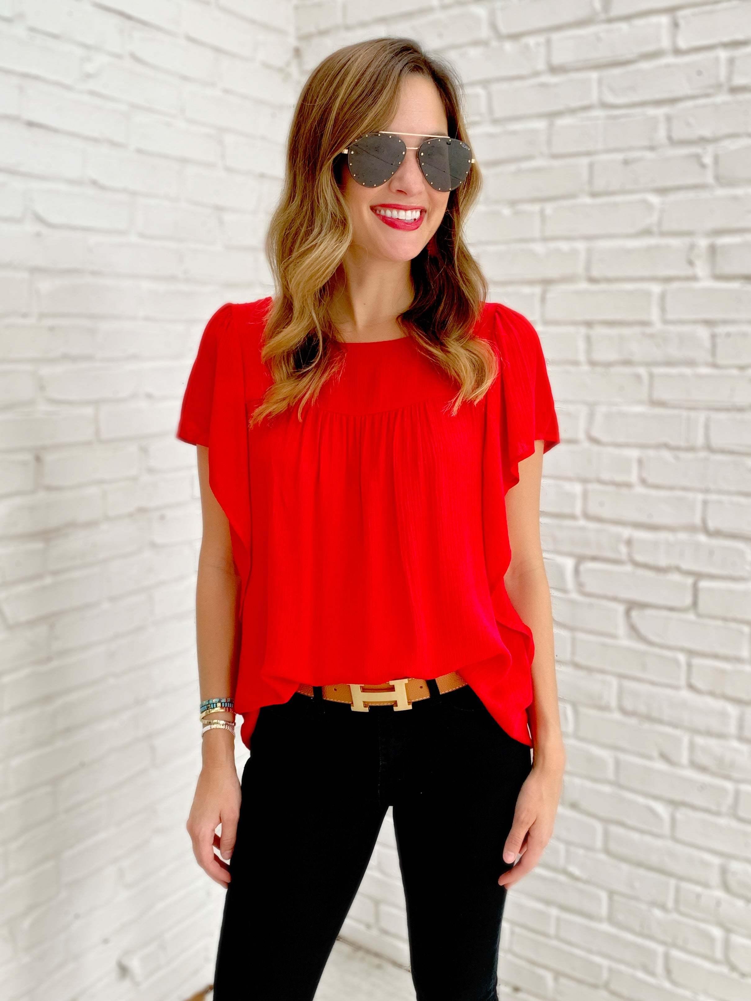 Frances Top in Red