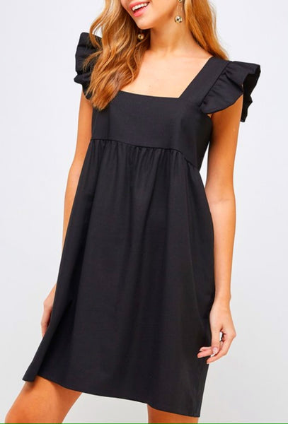 Catherine Dress in Black (Ships Mid April)