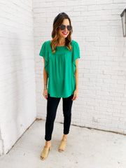 Frances Top in Green