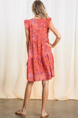 Jessie Dress in Red Floral
