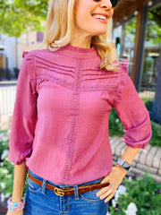 Larson Top in Pink