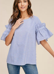 Shay Top in Blue