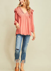 Kaleigh Top in Rose