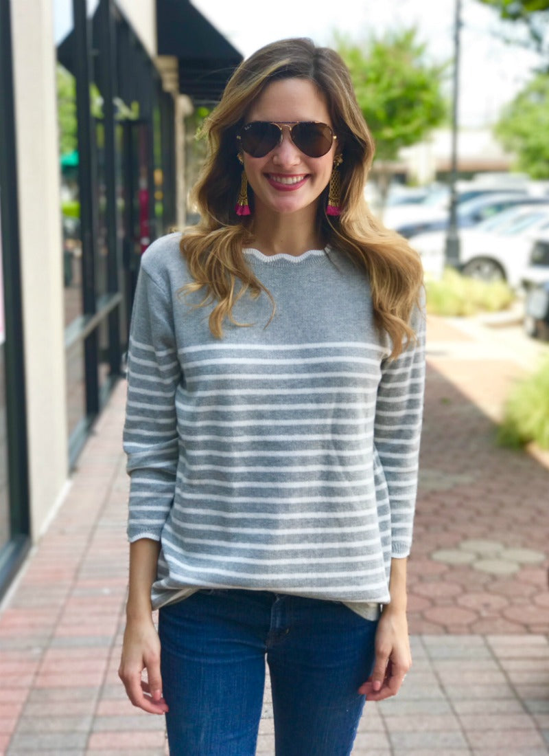 Bridget Top in Grey