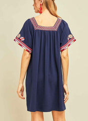 Shaline Dress in Navy