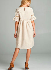 Tia Dress in Taupe