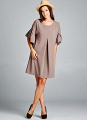Oliver Dress in Beige