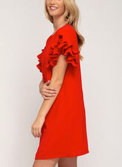 Valerie Dress in Red
