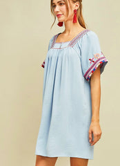Shaline Dress in Blue