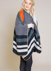 Berkeley Poncho in Grey