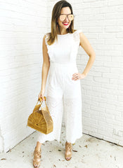 Devin Romper in White