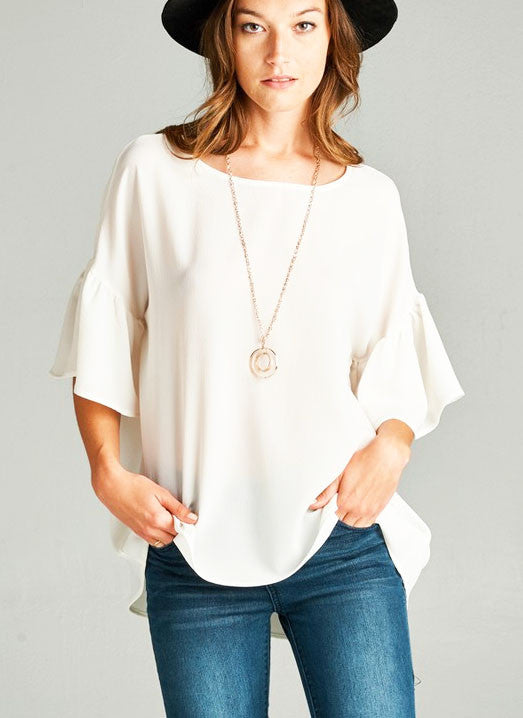 Marianne Top in Ivory