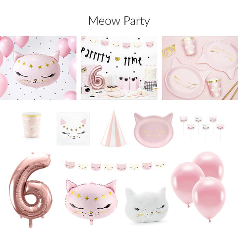 Kitty Cat Theme Parties are Purr-fect, but when they are Pink? It is over the top!  Come check out the new pink cat balloons, plates, napkins and cups  in stock now!