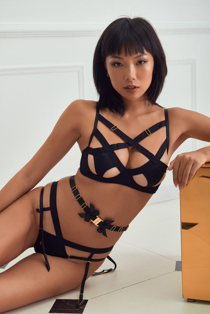 Sexy Bloom - Spicy Warrior Bondage Style Cutout Bra