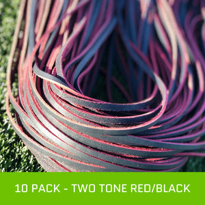 10 Pack - Premium Two-Tone Red vs Black Lace