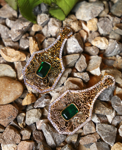 Jhali Frame Earrings