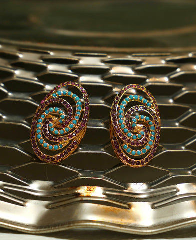 Oval Spiral Feroza and Ruby
