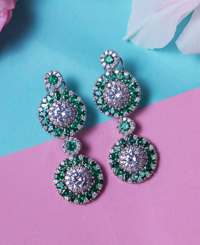 Emerald Colored Earrings