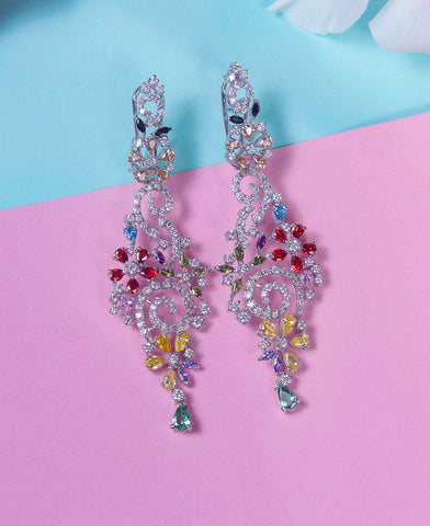 Multi Colored Zircon Earrings