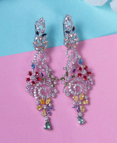 Colored Zircon Earrings