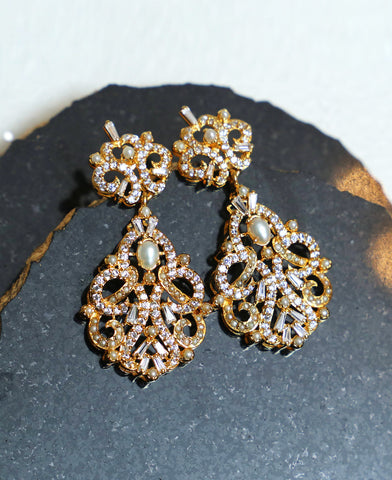 Diamond Style Baguette Earrings
