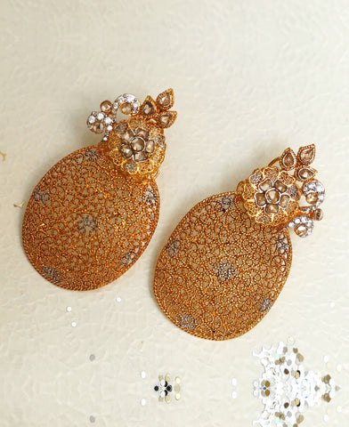 Filigree Oval Earrings