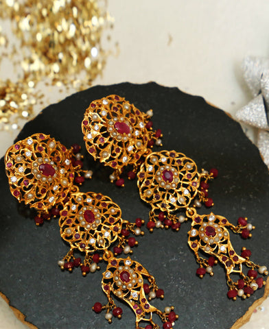 Ruby Hyderabadi Earrings