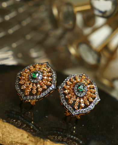 Green Champagne Studs